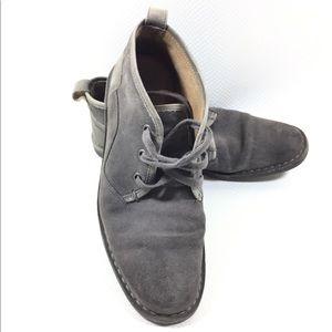 John Varvatos Grey Suede Hipster Ankle Chukka Boot